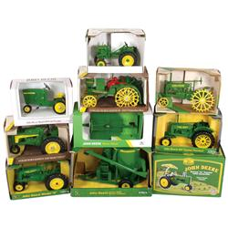 Farm toys (10), all John Deere, LA Tractor (1992 Natl Farm Toy Museum Col. Ed.), Ertl Waterloo Boy R