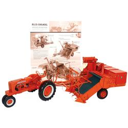 Farm toy, Allis-Chalmers Type 60A All Crop Harvester 1:12 scale replica hand-assembled from more tha