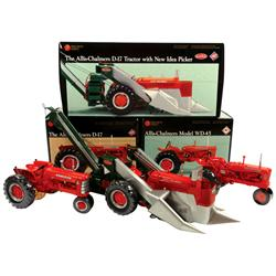 Farm toys (3), all Ertl Precision Series, A-C WD-45 narrow front, A-C D-17 & A-C D-17 w/New Idea cor