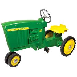 Farm toy, John Deere pedal tractor, Model D-65 20 Series, mfgd by Ertl Co., Dyersville, IA, VG orig