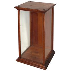 "Showcase, small ash/glass counter case w/rear door, earlier 1900's, VG cond, 20""H x 12""W x 11.5""D."