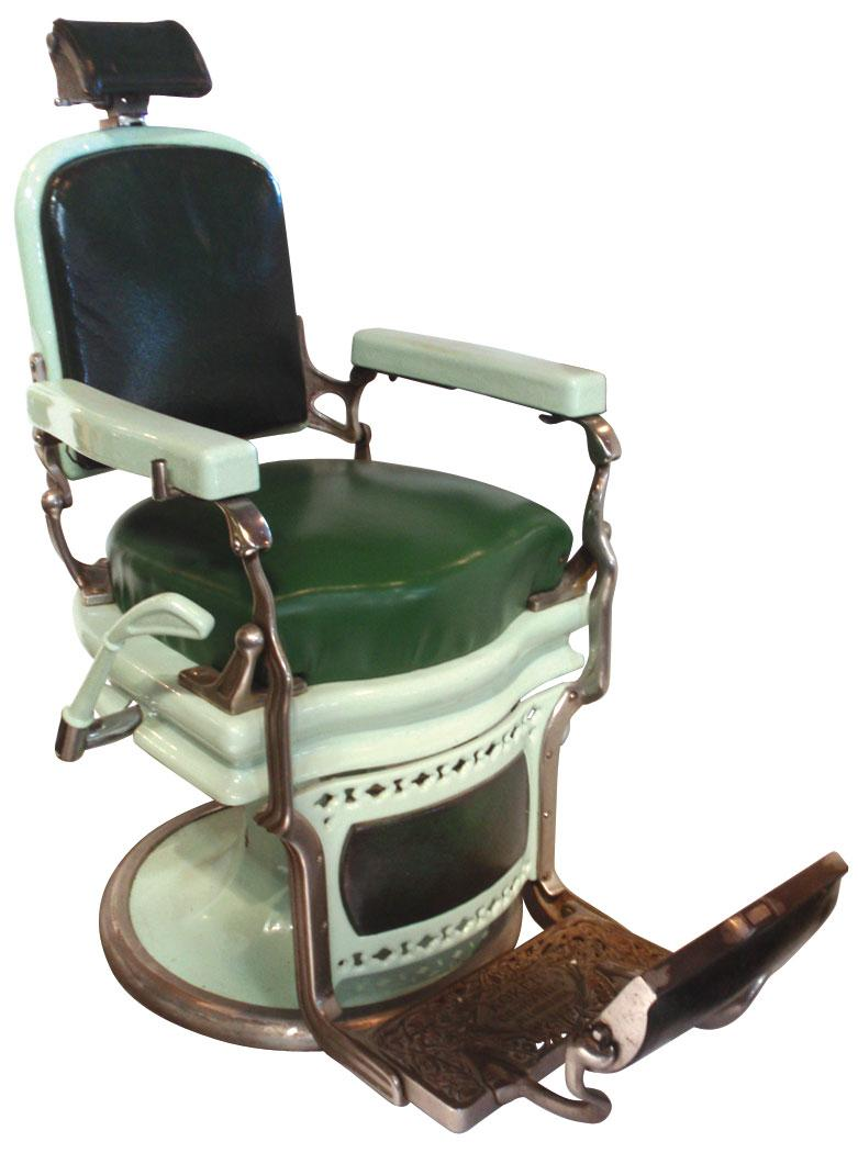Koken barber chair serial number - Koken Barber Chair Barber Chair Koken Mint Green Porcelain W Dark Green Upholstery Recovered Seat