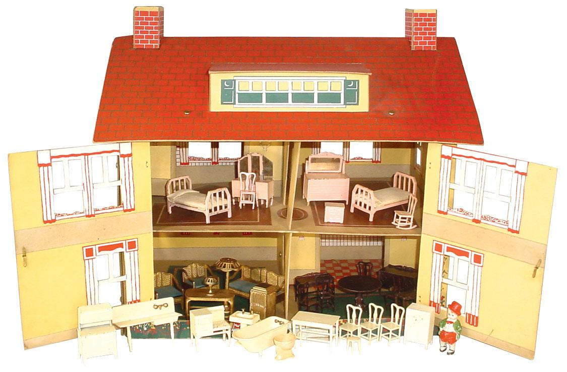 Tootsietoy Dollhouse Furniture C1927 8 Pc Dining Room Set 7 Loading Zoom
