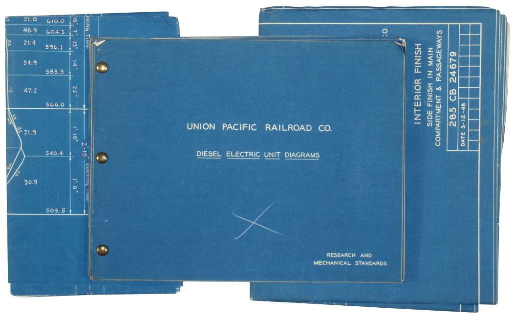 Union pacific railroad co blueprints of diesel electric unit image 2 union pacific railroad co blueprints of diesel electric unit diagrams proposed malvernweather Choice Image