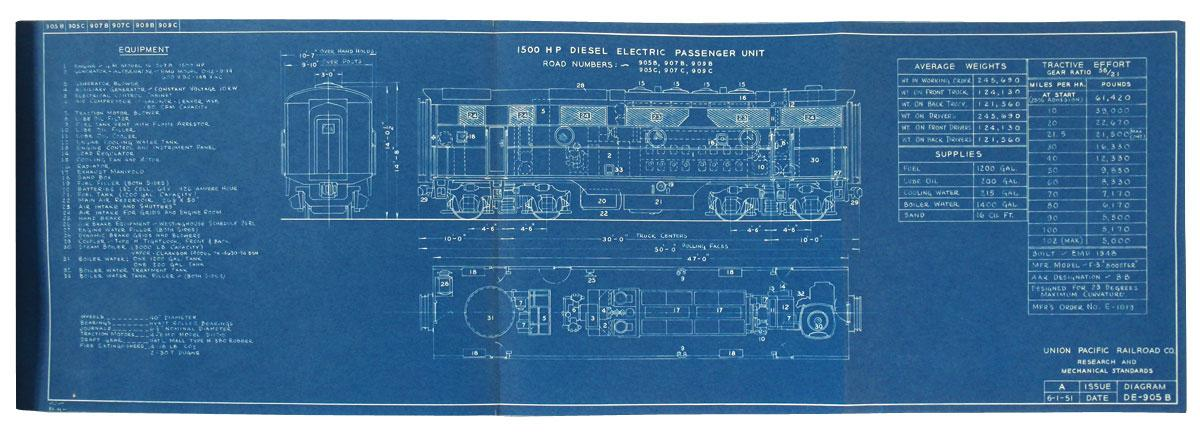 Union pacific railroad co blueprints of diesel electric unit image 3 union pacific railroad co blueprints of diesel electric unit diagrams proposed malvernweather Choice Image