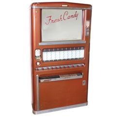 Coin-operated candy machine, Stoner, floor model w/11 selections, 5-10-20 Cent machine, c.1950's, VG