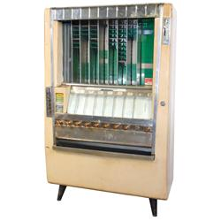 Coin-operated candy machine, National Vending Machine-Series CC Deluxe, floor model w/9 selections,