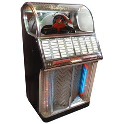 "Jukebox, Wurlitzer 1700 F, plays 45 RPM records, a beautiful machine in VG working cond, 56""H x 32""W"