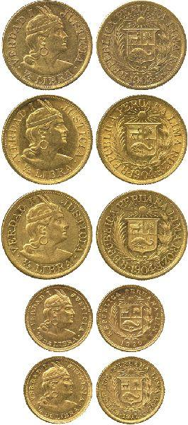 Spanish And South American Coins Peru Republic ½