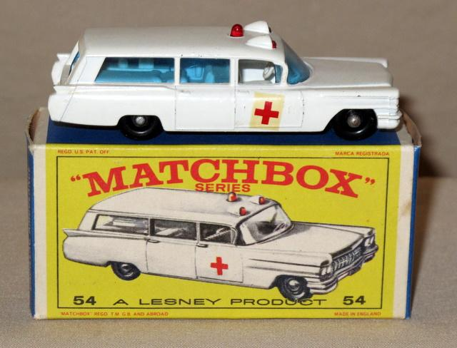Matchbox Cadillac Ambulance 54 Cadillac Ambulance