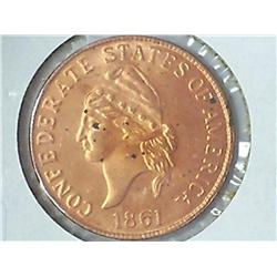 1861 Confederate States Of America One Cent (Copy)