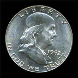 1962D FBL Uncirculated Franklin Half Coin (COI-931)