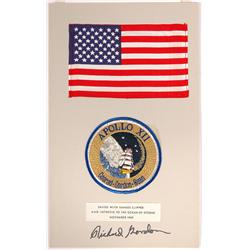 Apollo 12, 1969, FLOWN US Flag and Patch