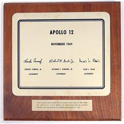 Apollo 12, 1969, FLOWN Lunar Plaque