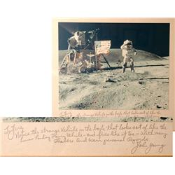 Apollo 16, 1972, John Young Autograph