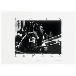 John Lennon, Black & White Photograph. Rare & Out of Print