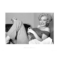 Marilyn Monroe in Bed. Photograph