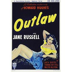 Zoe Mozert, Outlaw. Jane Russell. Serigraph Movie Poster