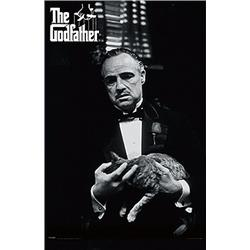 The Godfather: Marlon Brando with Cat. Poster