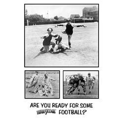 The Three Stooges: Are You Ready For Football? Larry, Moore, & Curly.  Montage