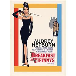 Breakfast at Tiffany's One-Sheet. Audrey Hepburn. Reproduction Movie Poster