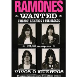 The Ramones, Wanted Poster. High Quality Reproduction Poster