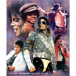 Wishum Gregory, Michael Jackson- The King of Pop. Collage