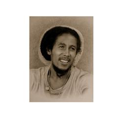 Reginald Nazaire, Bob Marley, Une Seule Terre. Pencil Signed Giclee