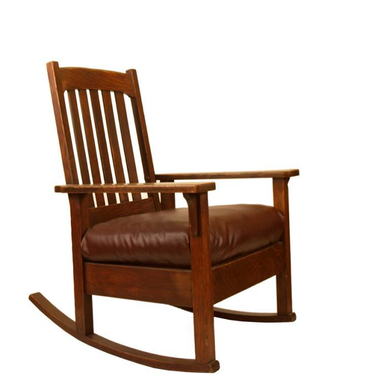 hills mission-style oak and rust chair – furnitureplans