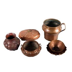 Assortment of 6 fine pieces of copper