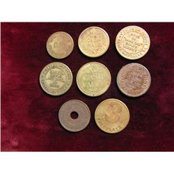 495. (8) Assorted Old Amusement Arcade Tokens, Includes Starcade, D.G., National Coin, Lust Games In