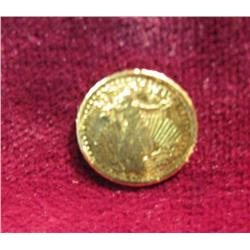 537. 1905 Miniature $20 Gold Saint Gaudens Replica Token 8k Gold.