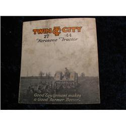 2417. 1926 Twin City 27-44 Tractor Test Report Booklet.