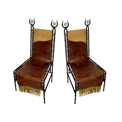 French  Barbarian chairs , France c. 1970-1980