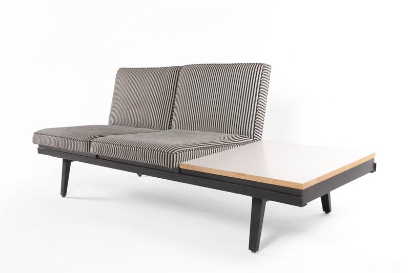 George Nelson Steel Frame Sofa, USA C. 1950. Loading Zoom