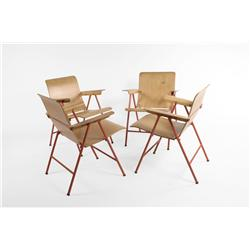 Russel Wright Quot Samson Quot Folding Chairs Set Of 4 Usa C 1940