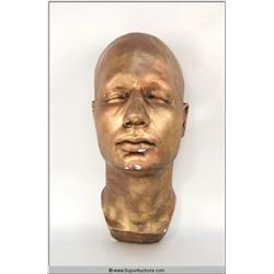 Copper Painted Plaster Life Mask of Agent Fox Mulder (David Duchovny)