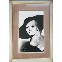 Framed Photograph with Autograph {Jean Harlow}