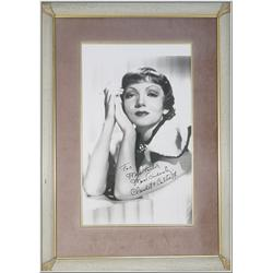 Framed Photograph with Autograph {Claudette Colbert}