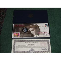 2006 Elvis 50th Anniversary coin and Stamp postmark boxed set Ltd Ed. 1566 of 15000