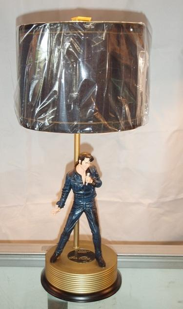 Image 1 : Elvis 68 Comeback Special Lamp   Gold Record Base