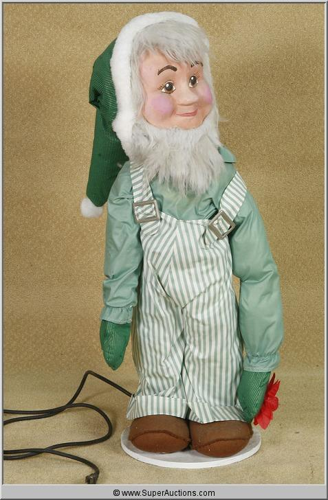 image 2 christmas animatronics santas elf helper with green suit - Christmas Animatronics
