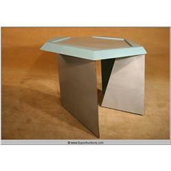 """Austin Powers"" Hero Dr. Evil {Mike Myers} Custom Short Office Desk with Blue Trim"