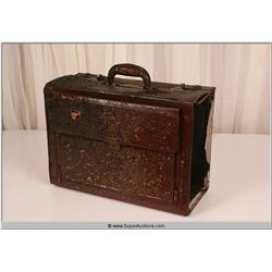 """Law Abiding Citizen"" 2009 Brown Leather Business File Holder Suit Case {Damaged}"