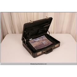 """Law Abiding Citizen"" 2009 Black Leather Suit Case with Photo of Car"