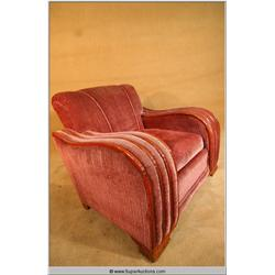 """Buffy The Vampire Slayer"" Screen Used Vintage 1930's Streamline Art Deco Lounge Chair"