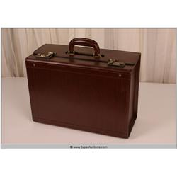 """Law Abiding Citizen"" 2009 Brown Leather Business File Holder Suit Case"