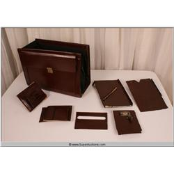 """Law Abiding Citizen"" 2009 Brown Leather Business File Holder Suit Case with Break Away Pieces"