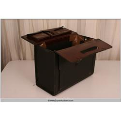 """Law Abiding Citizen"" 2009 Black Leather Business File Holder Suit Case"