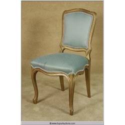 """Dream Girls"" 2006 with ""Jamie Foxx"" French Side Chair with Teal Cover used as a Movie Prop"
